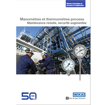 Documentation manomètres et thermomètres process